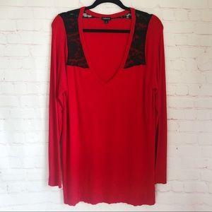 [Torrid] lace shoulder v-neck stretch sweater 2